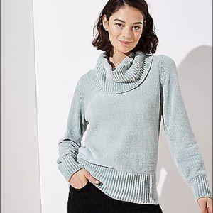 LOFT Chenille Cowl Neck Sweater